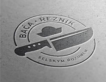 Logo značky Bača Řezník